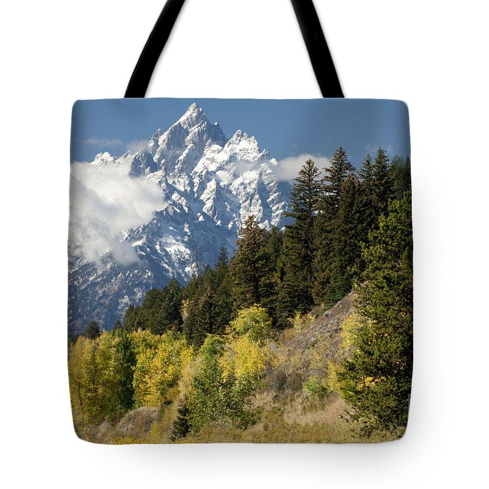 Sandra Bronstein Tote Bag featuring the photograph Grand Teton by Sandra Bronstein