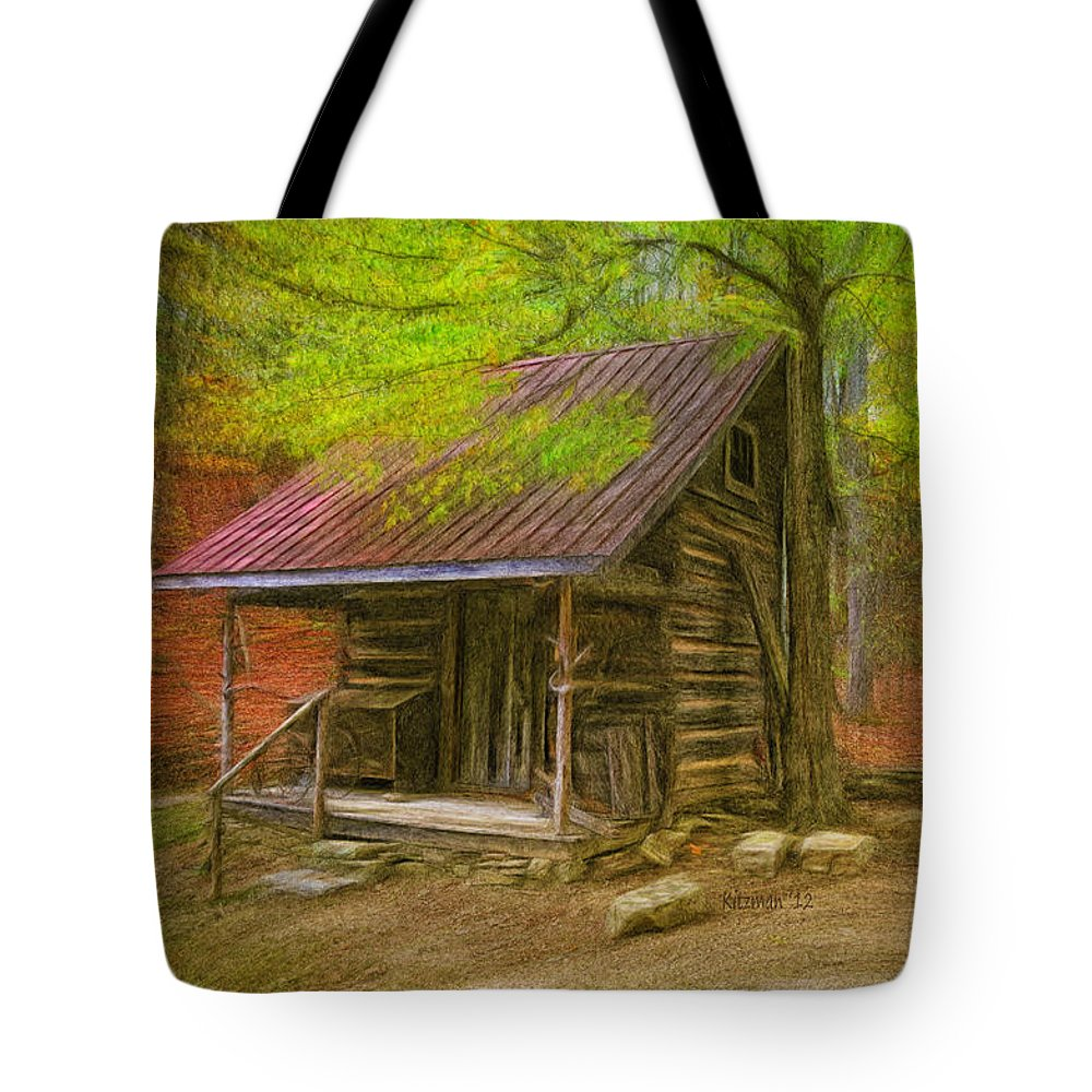 Cabin Tote Bag featuring the photograph Granny's Little Cabin by Anne Kitzman