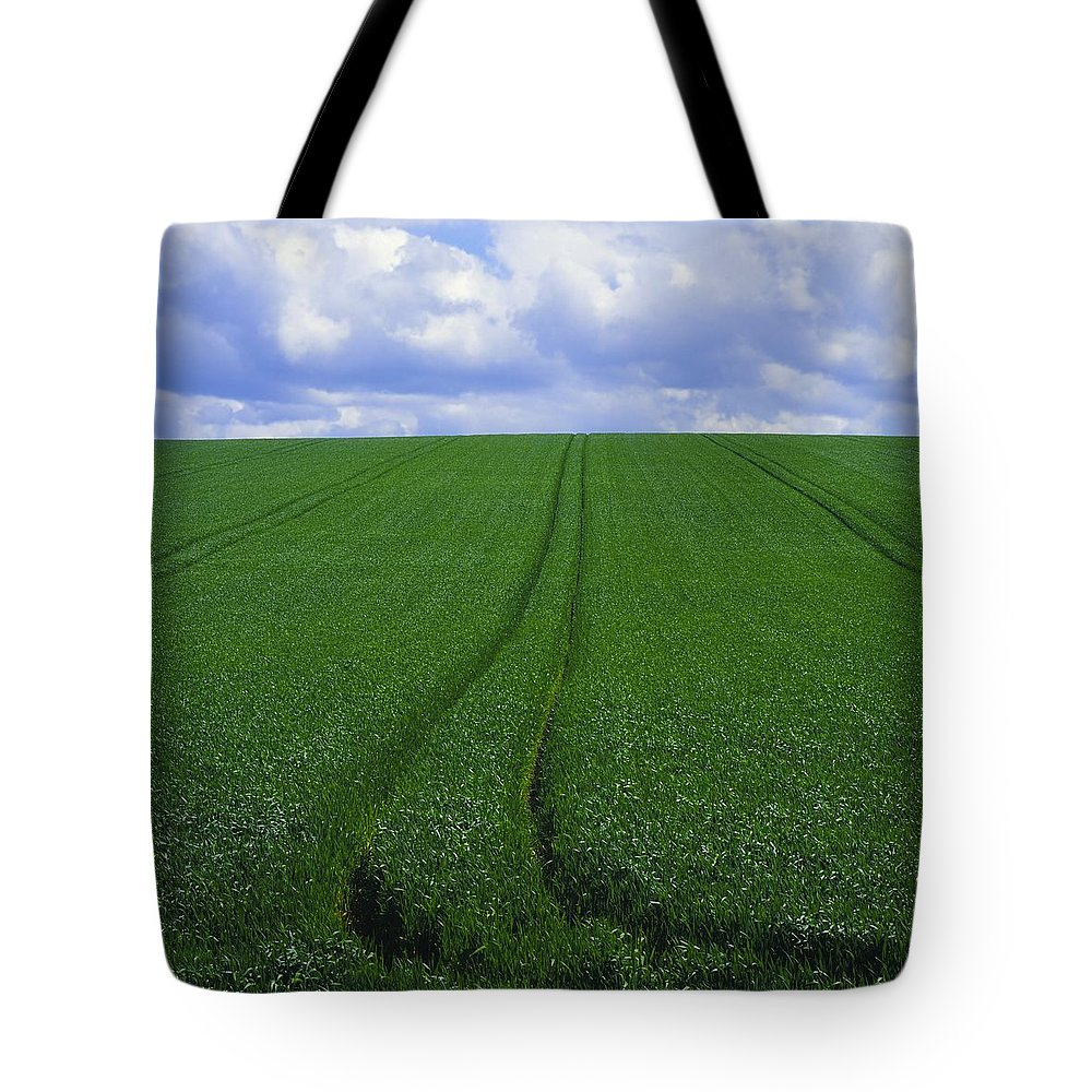 Color Image Tote Bag featuring the photograph Grass Field by The Irish Image Collection