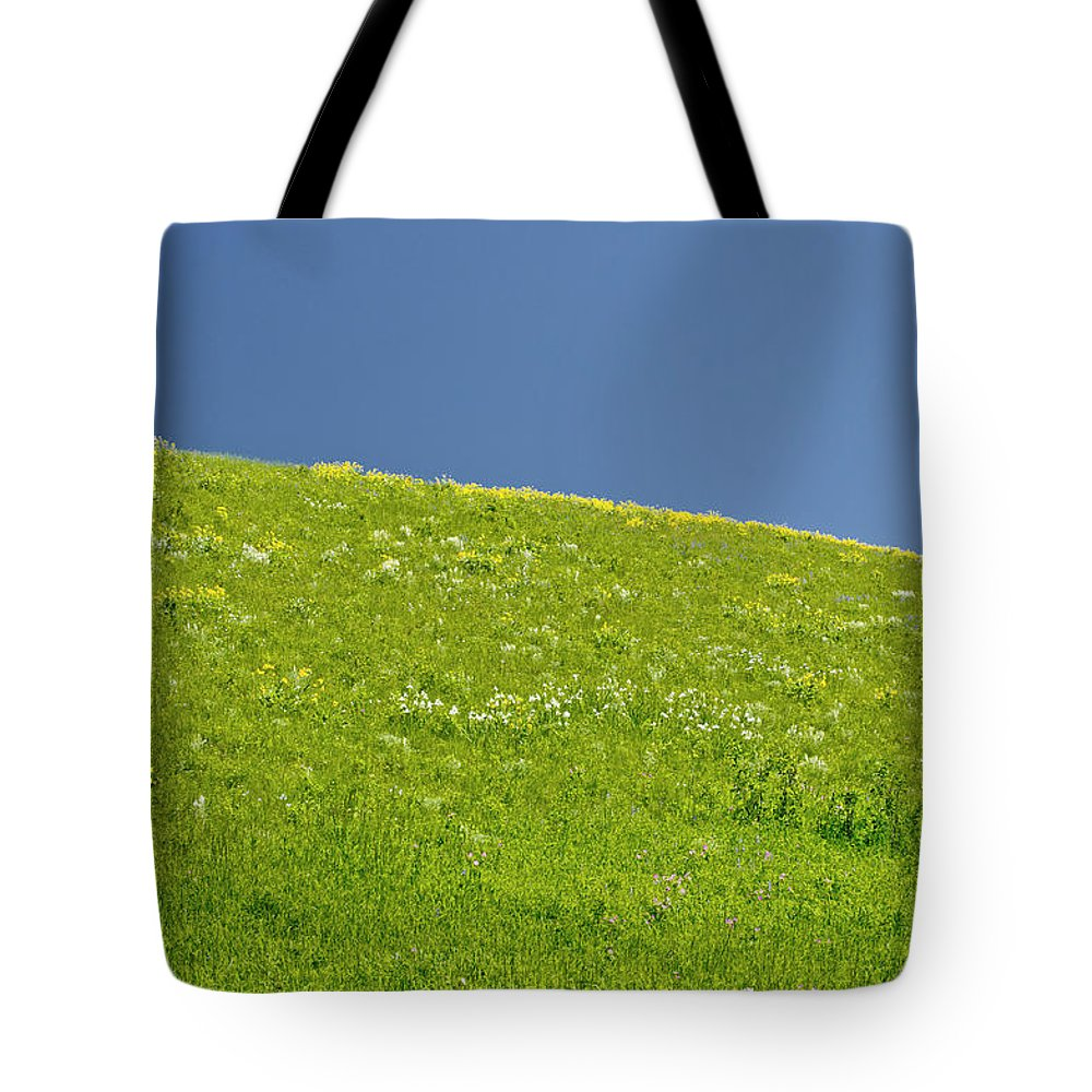 Americas Tote Bag featuring the photograph Grassy Slope View by Roderick Bley