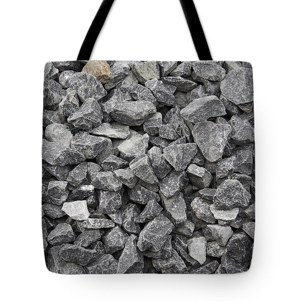 Stone Tote Bag featuring the photograph Gravel - Road Metal by Michal Boubin