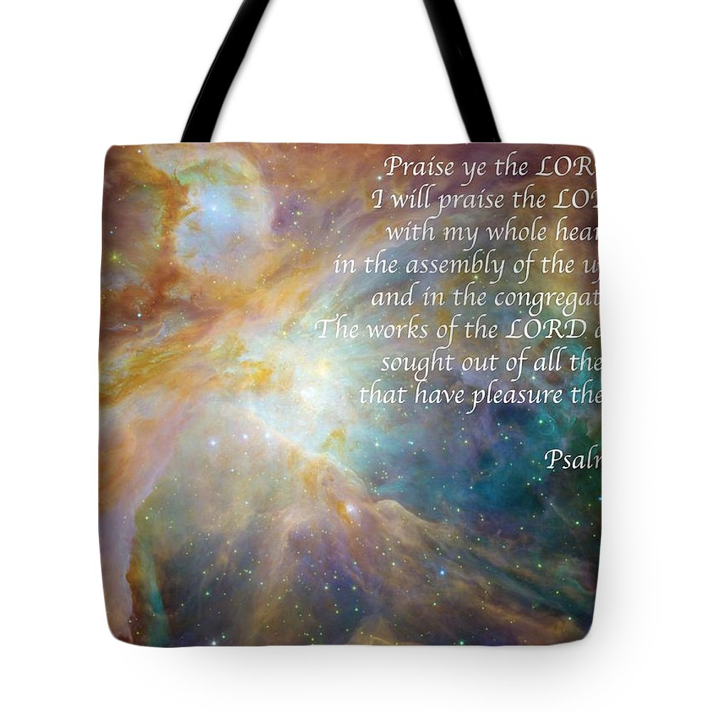 Space Tote Bag featuring the photograph Great Are His Works by Michael Peychich