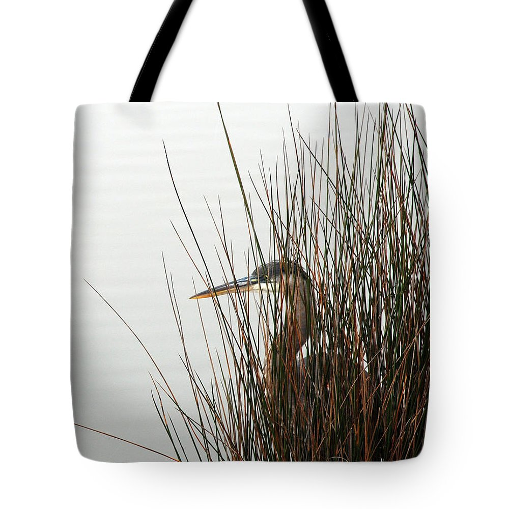 Heron Tote Bag featuring the photograph Great Blue Heron by Kay Lovingood