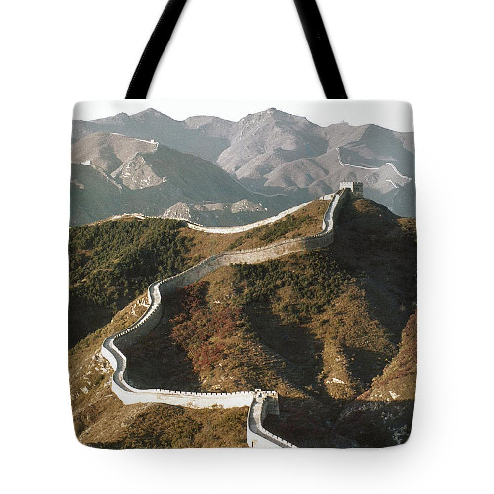 1970 Tote Bag featuring the photograph Great Wall Of China, C1970 by Granger