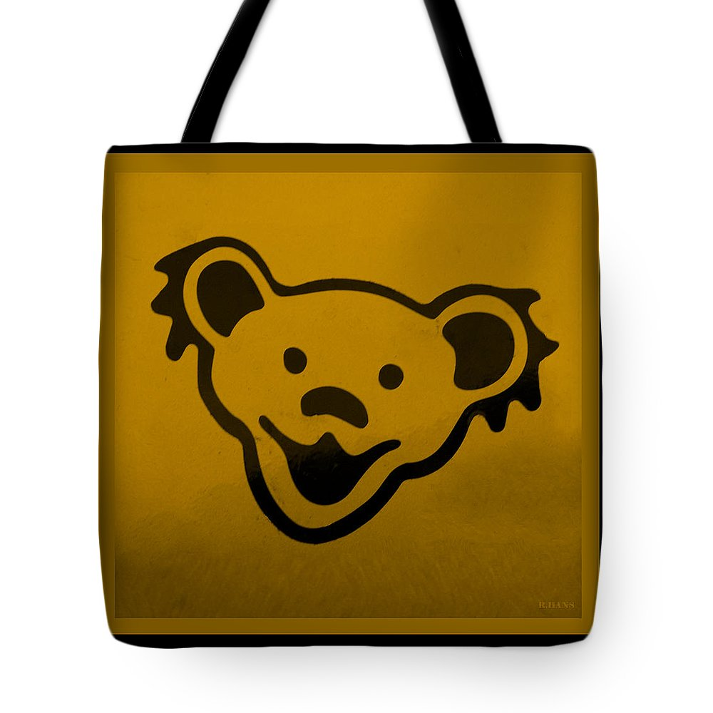 Greatful Dead Tote Bag featuring the photograph Greatful Dead Dancing Bear In Orange by Rob Hans