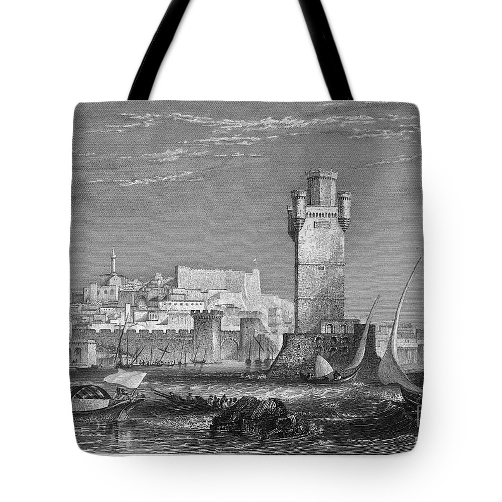 1850s Tote Bag featuring the photograph Greece: Rhodes, C1850 by Granger