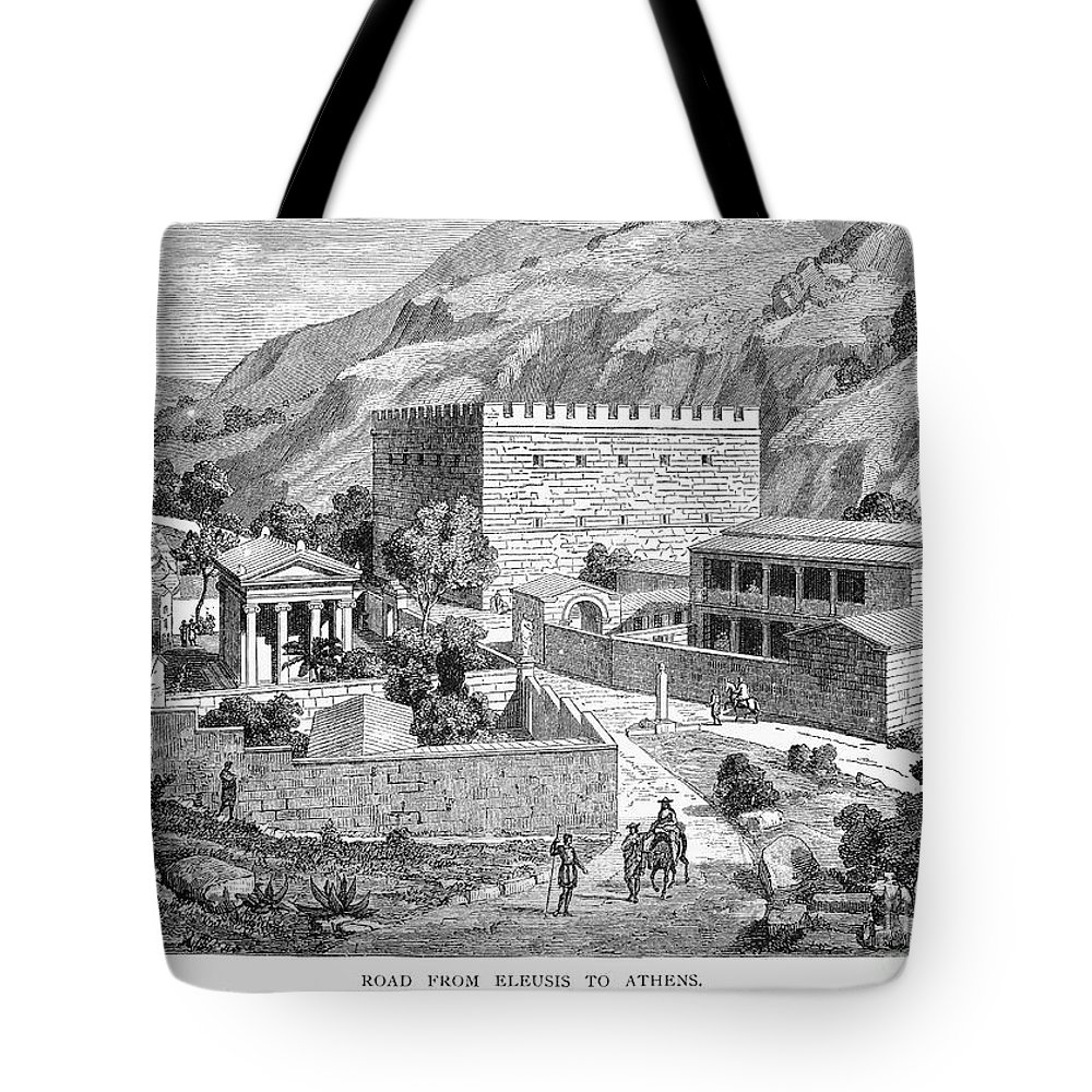 Ancient Tote Bag featuring the photograph Greece: Road To Athens by Granger