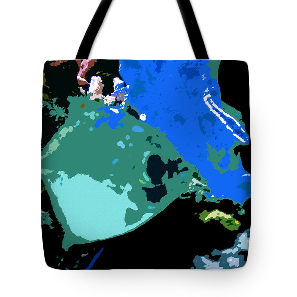 Art Tote Bag featuring the painting Green Fish by David Lee Thompson
