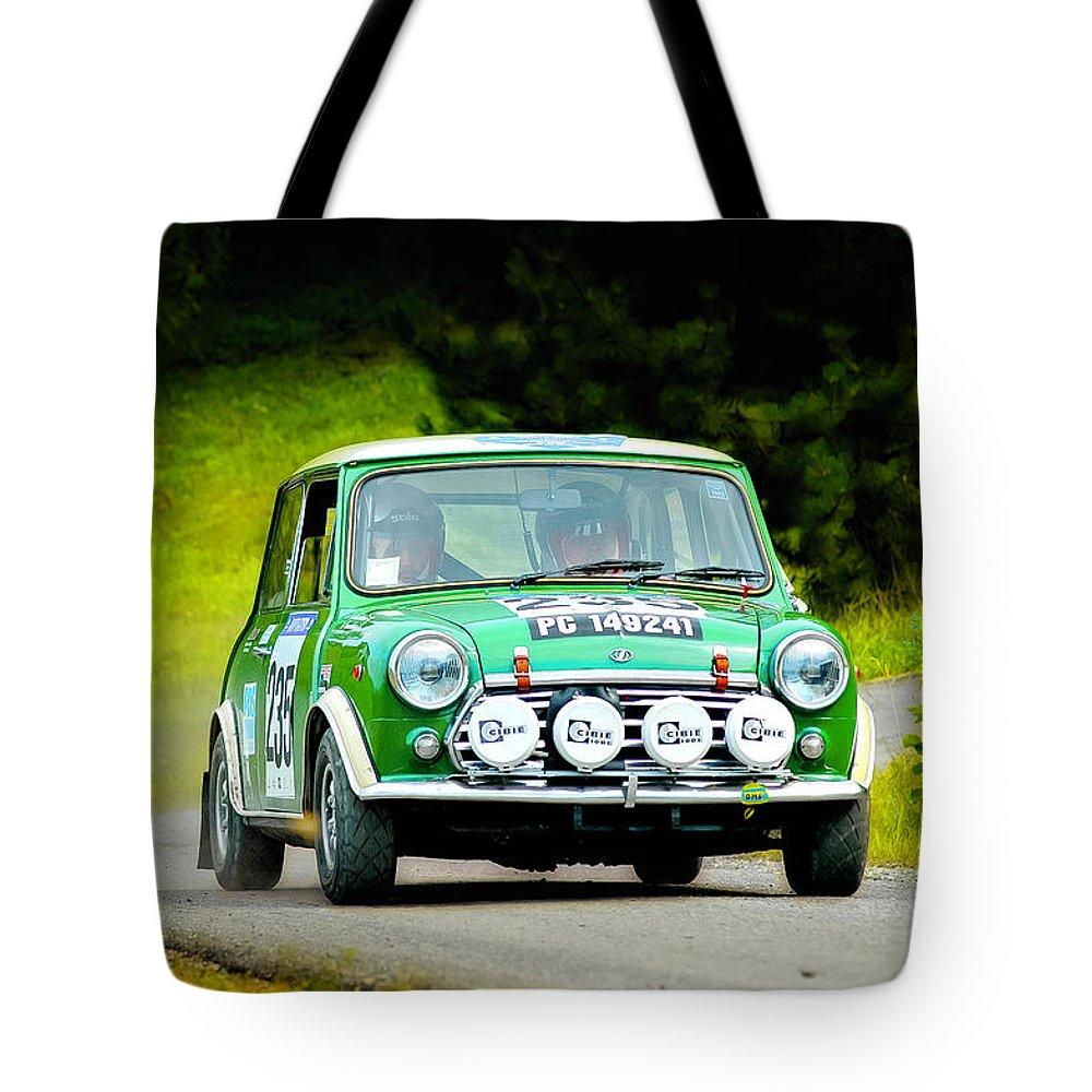 Car Tote Bag featuring the photograph Green Mini Innocenti by Alain De Maximy