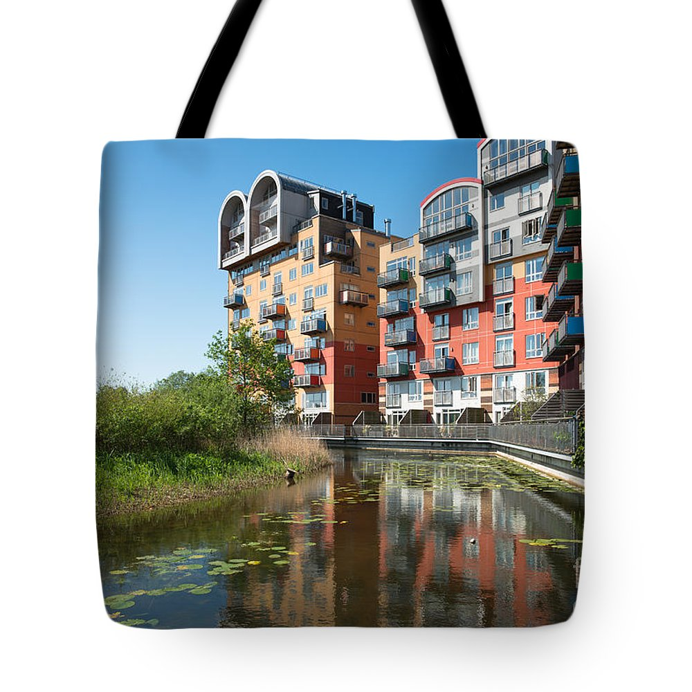 Greenwich Tote Bag featuring the photograph Greenwich Millennium Village by Andrew Michael