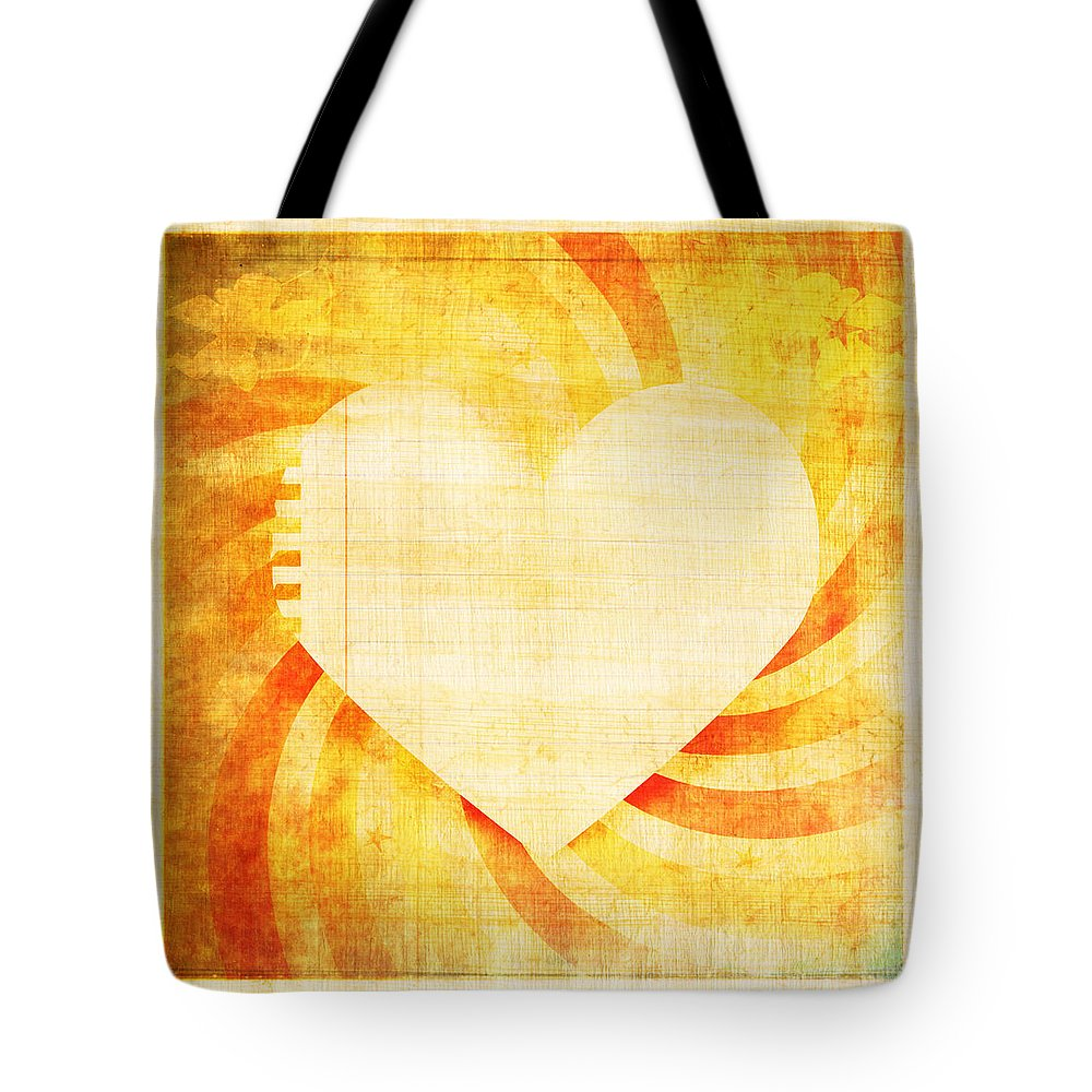 Antique Tote Bag featuring the photograph greeting card Valentine day by Setsiri Silapasuwanchai