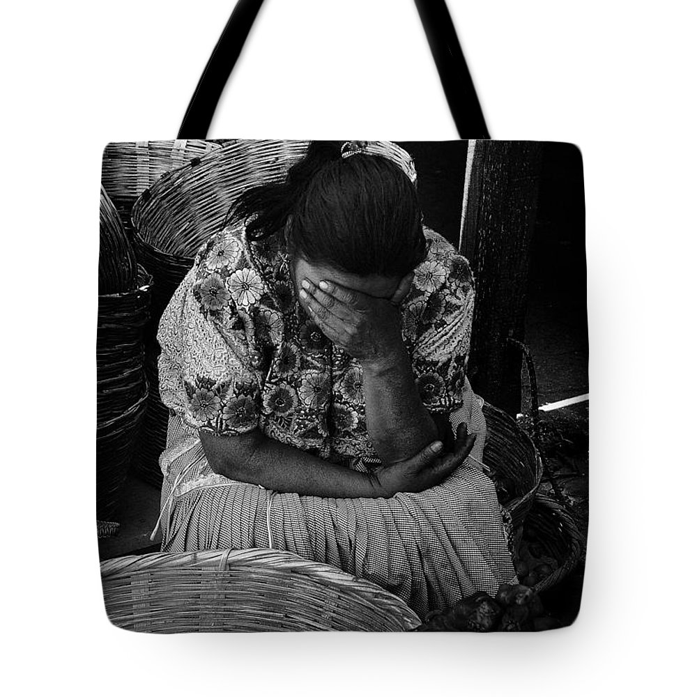 Grief Tote Bag featuring the photograph Grief by Tom Bell