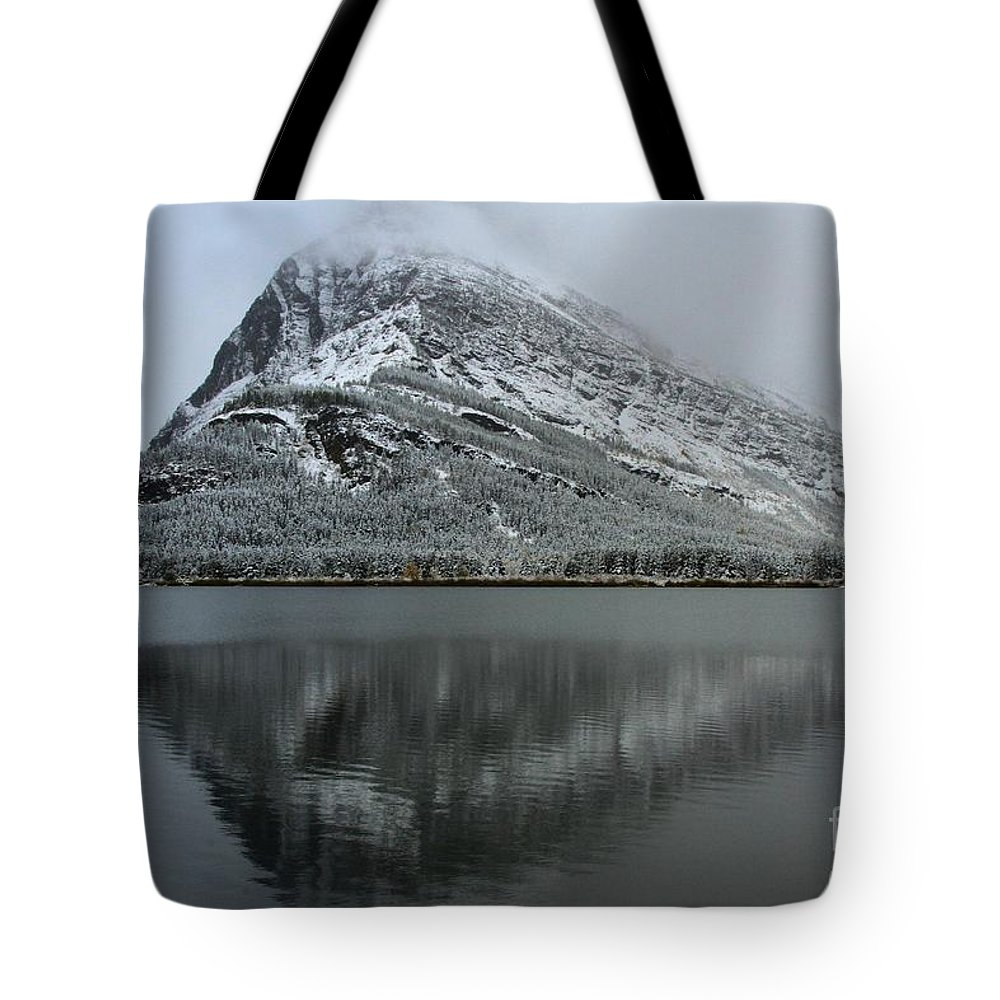 Glacier National Park Tote Bag featuring the photograph Grinnell Mirror by Adam Jewell