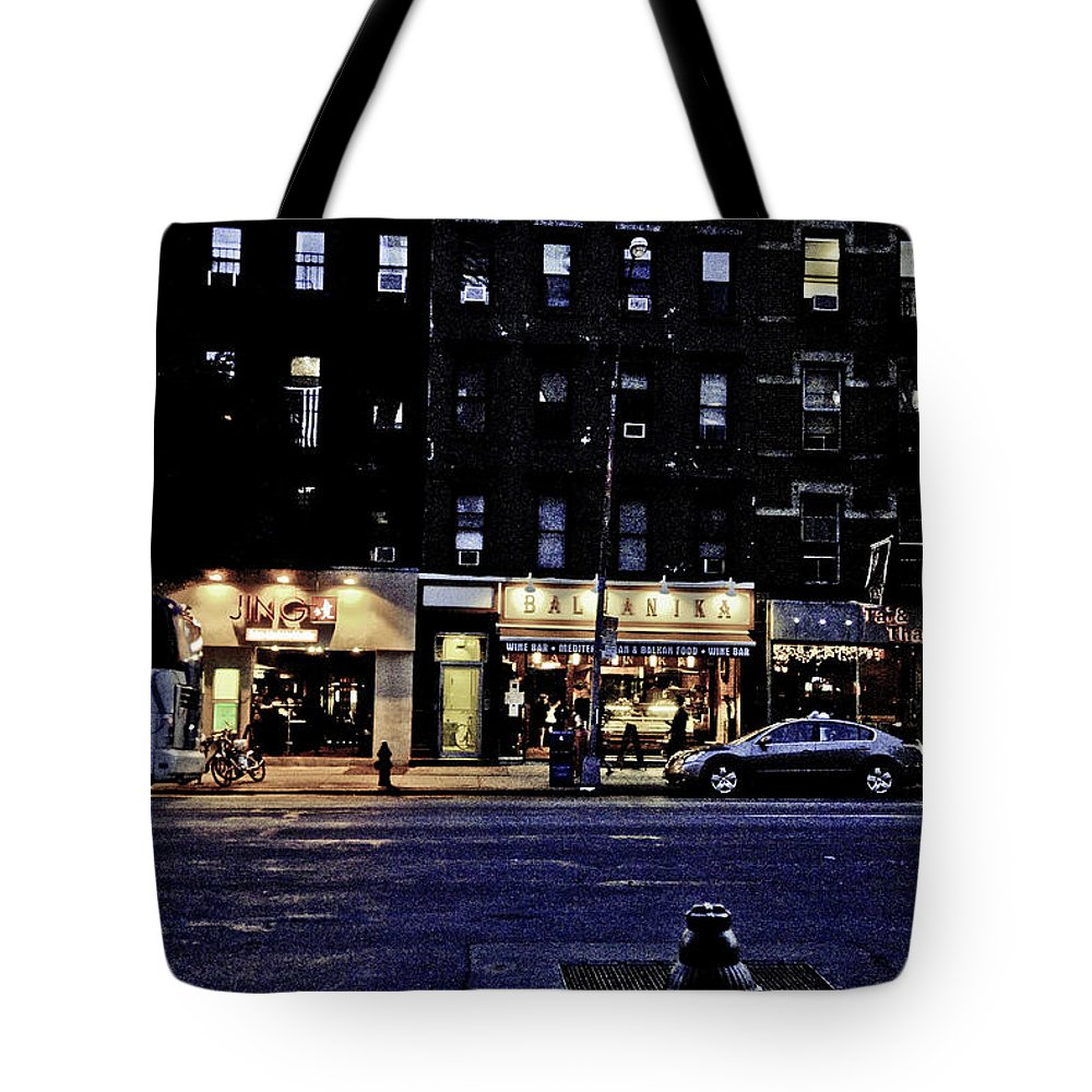 Nyc Tote Bag featuring the photograph Grunge Street by Robert Ponzoni