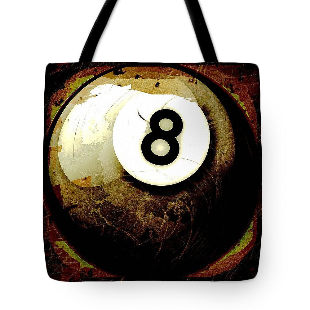 8 Tote Bag featuring the photograph Grunge Style 8 Ball by David G Paul