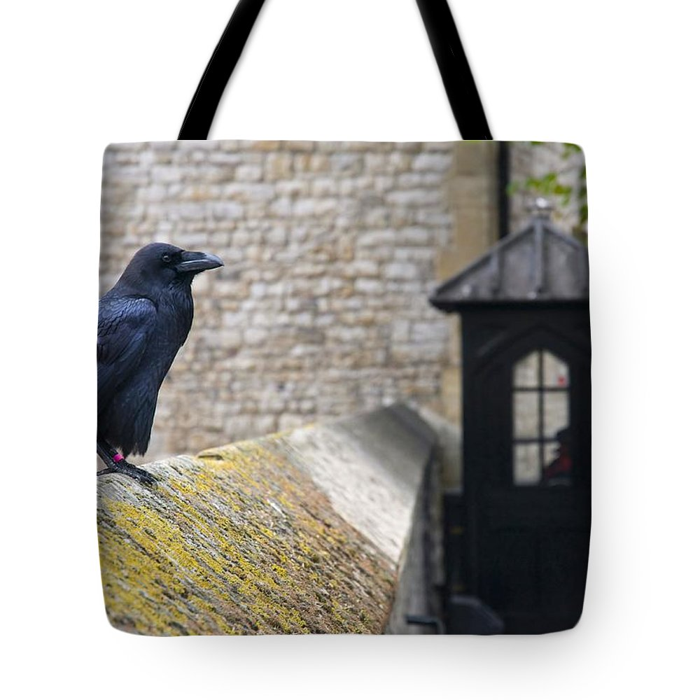 Raven Tote Bag featuring the photograph Guardians by Martin Cooper