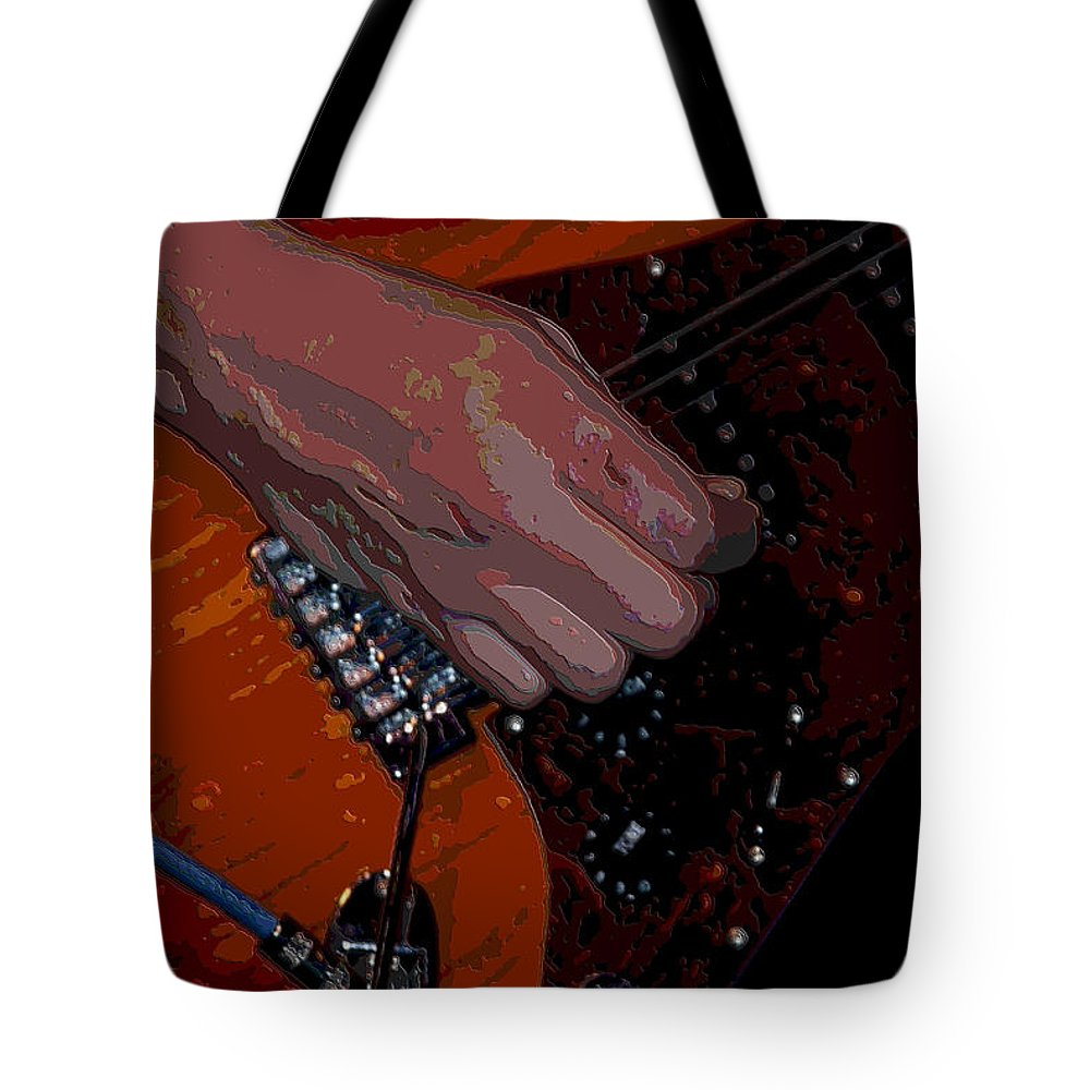 Guitar Tote Bag featuring the photograph Guitar by Michael Merry