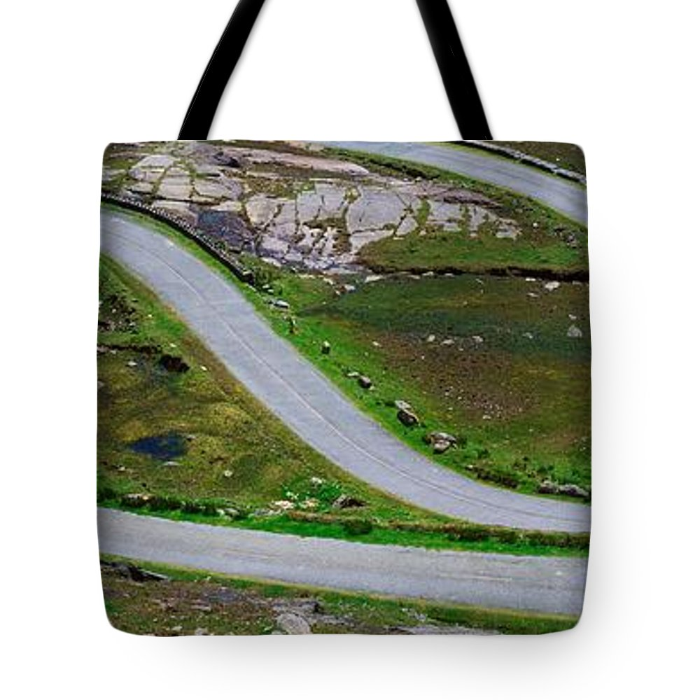Automobiles Tote Bag featuring the photograph Hairpin Bends In The, Healy Pass, Beara by The Irish Image Collection