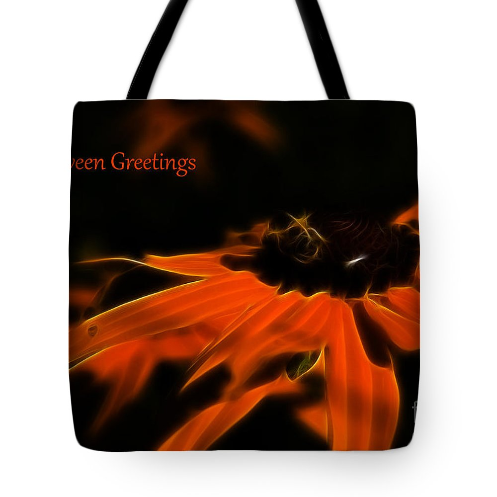 Halloween Tote Bag featuring the photograph Halloween Greetings by Darleen Stry