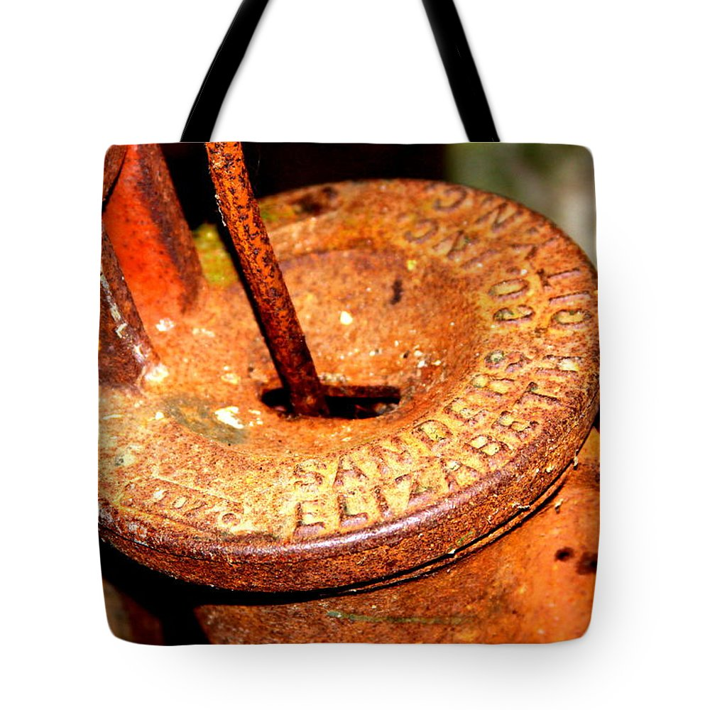Hand Pump Tote Bag featuring the photograph Hand Pump - Water Pump - Well Pump by Travis Truelove