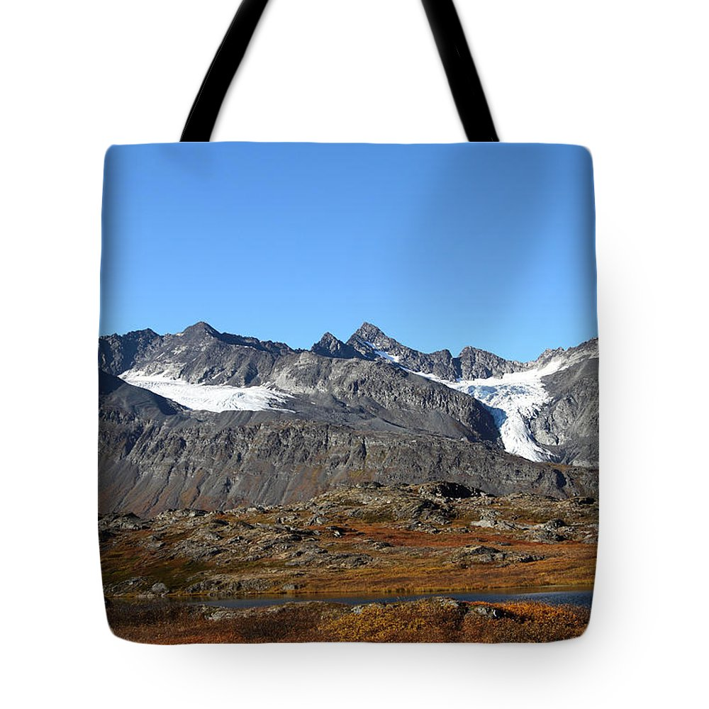 Doug Lloyd Tote Bag featuring the photograph Hanging Glacier by Doug Lloyd