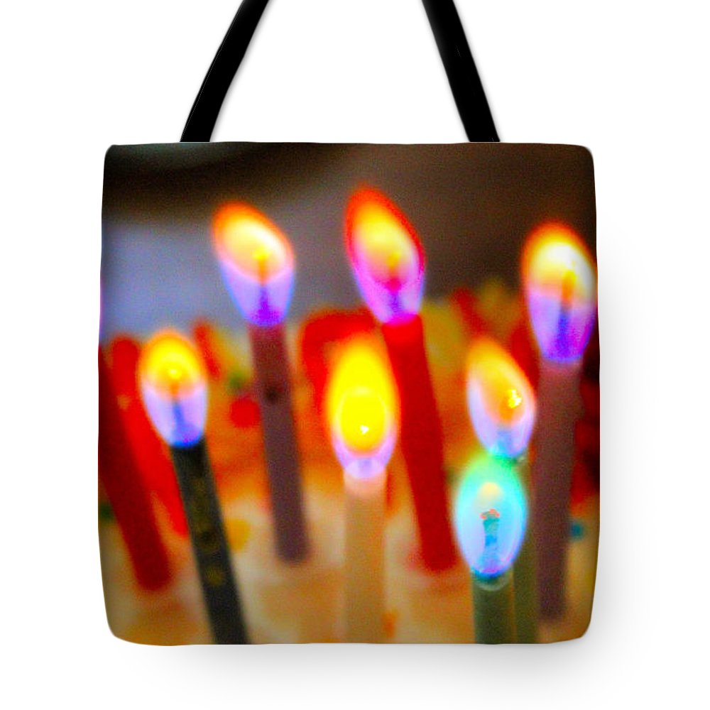Birthday Tote Bag featuring the photograph Happy Birthday by Karen Wagner