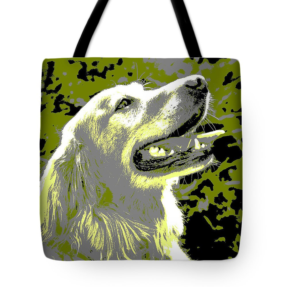 Happy Tote Bag featuring the photograph Happy Dog by Marilyn Hunt