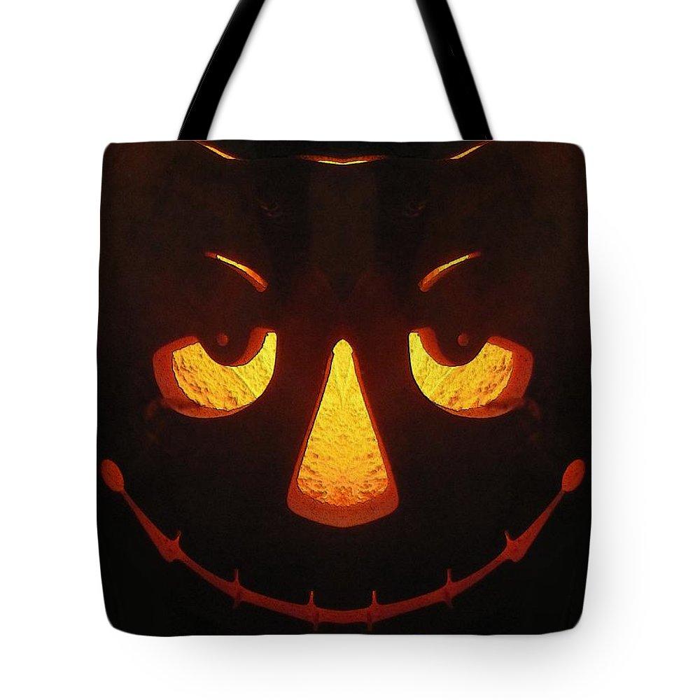 Halloween Tote Bag featuring the digital art Happy Halloween by Tim Allen