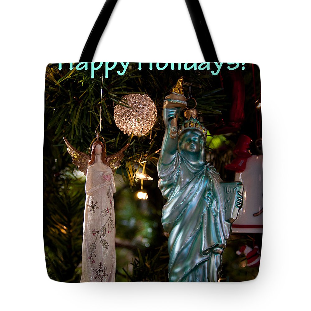 Christmas Tote Bag featuring the photograph Happy Holidays To All My Friends On Fine Art America by David Patterson