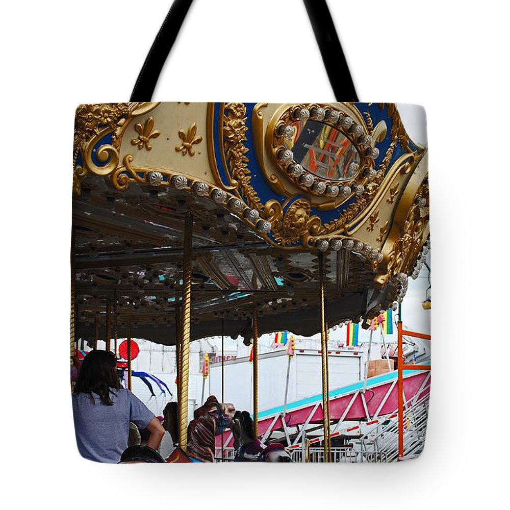 Fair Tote Bag featuring the photograph Happy Ponies by Skip Willits