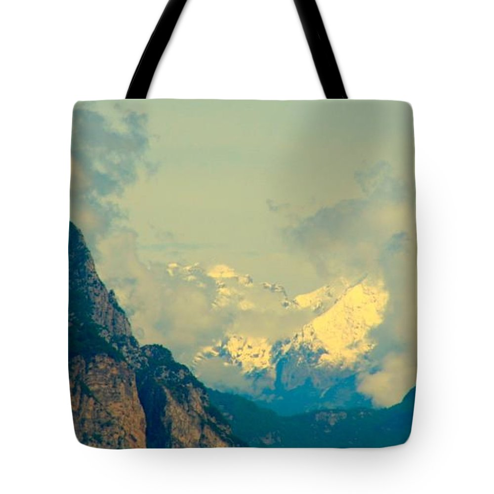 Mountains Tote Bag featuring the photograph Hard Walk by Anthony Brito