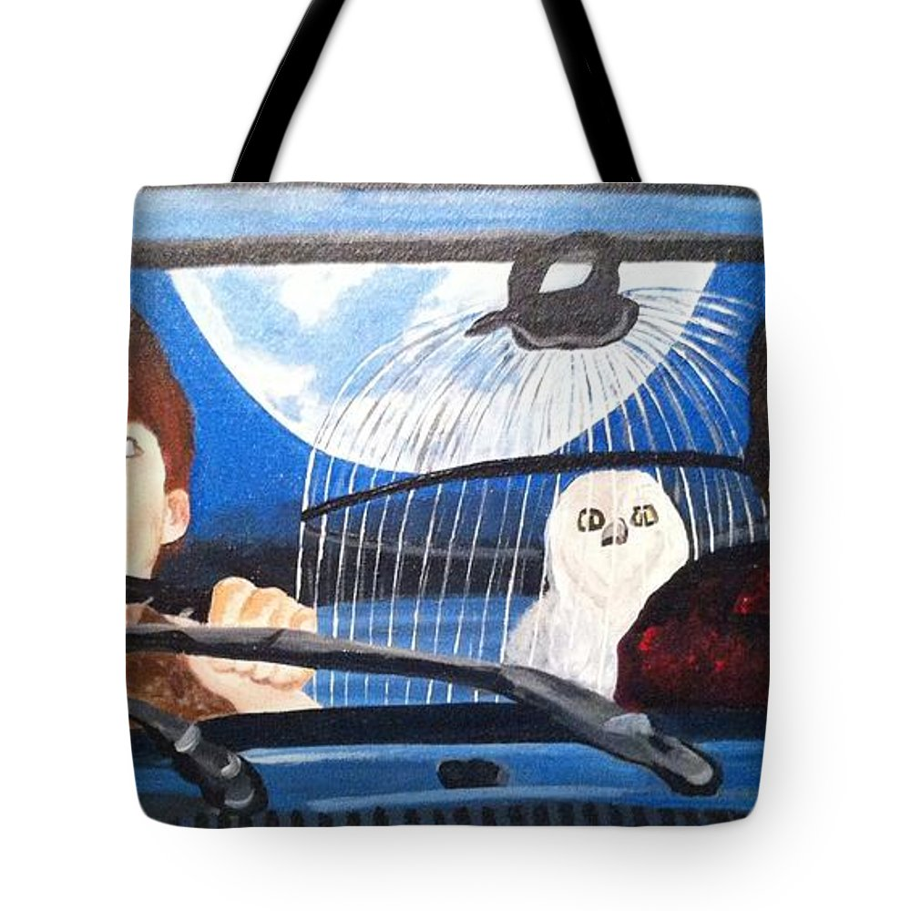 Harry Potter Tote Bag featuring the painting Harry And Ron by Julie Cranfill