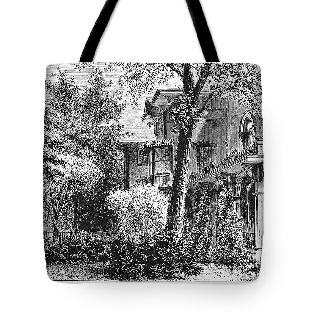 1876 Tote Bag featuring the photograph Hartford: Armsear Mansion by Granger