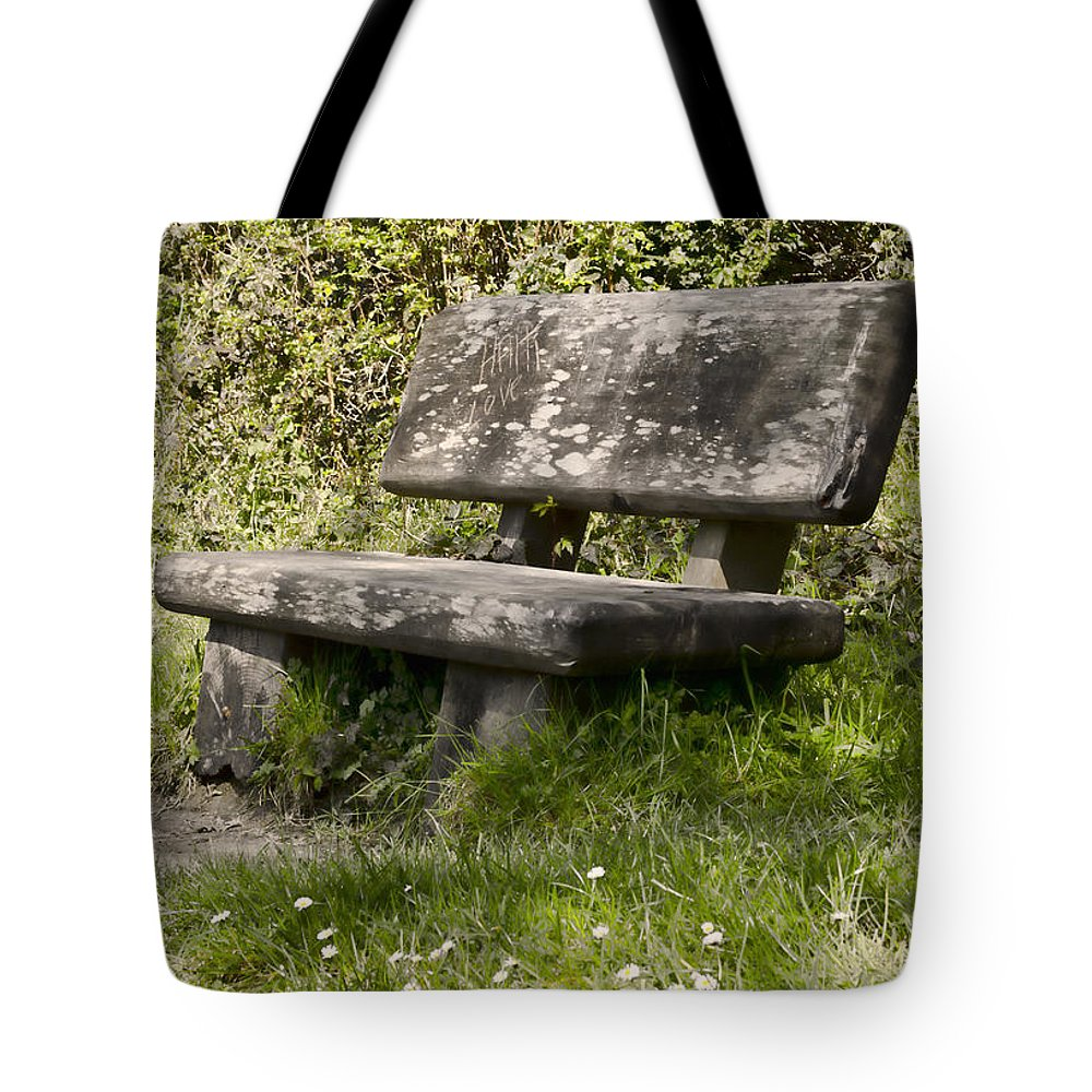 Stone Tote Bag featuring the photograph Have A Seat by Heather Applegate