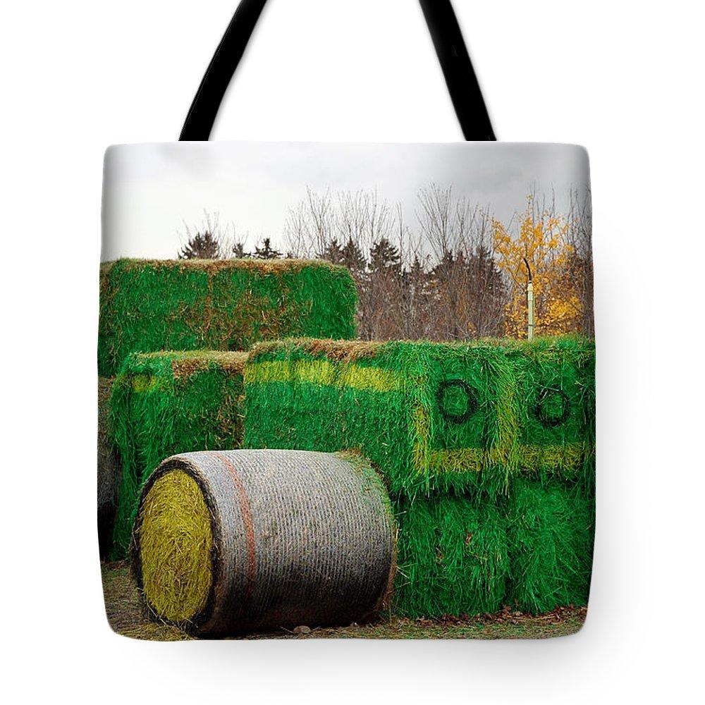 Usa Tote Bag featuring the photograph Hay Tractor by LeeAnn McLaneGoetz McLaneGoetzStudioLLCcom