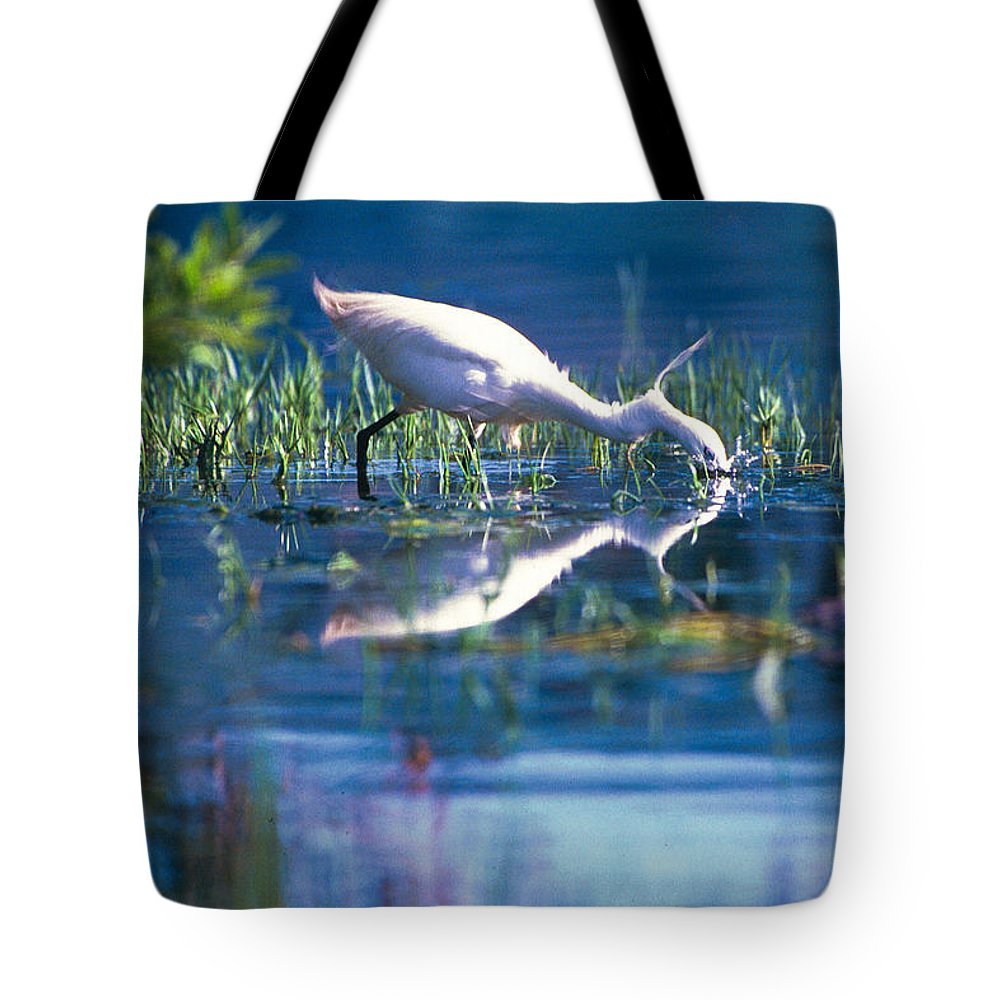 Action Tote Bag featuring the photograph Head Dip by Alistair Lyne