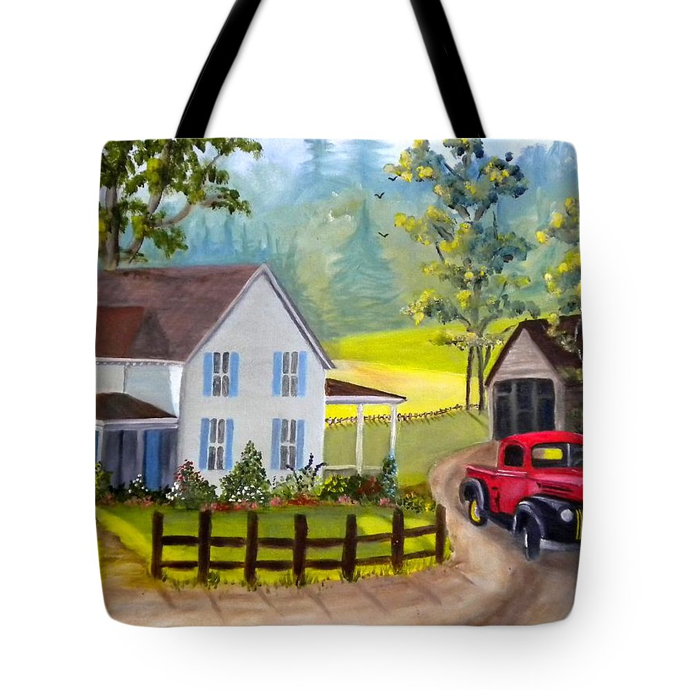 Ford Tote Bag featuring the photograph Headin' Out by Renate Nadi Wesley