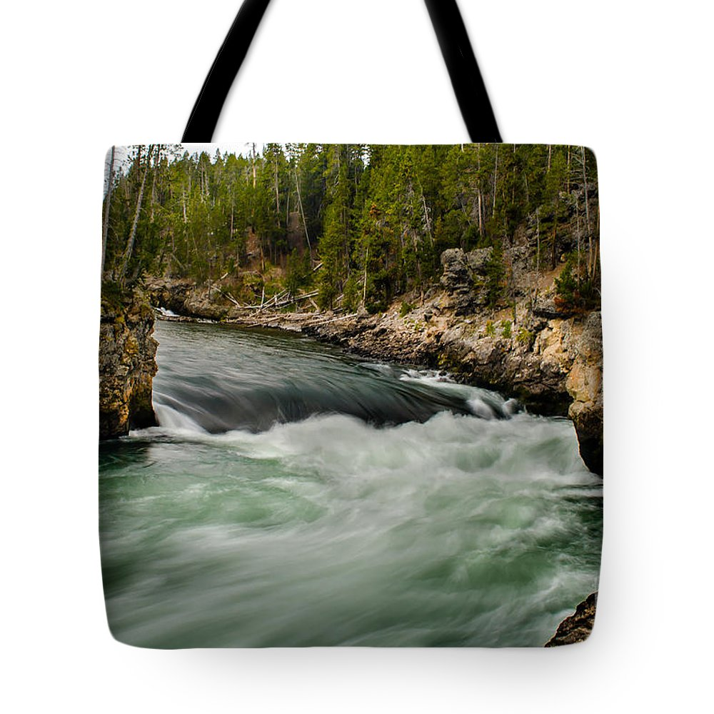 River Tote Bag featuring the photograph Heading For The Fall by Robert Bales