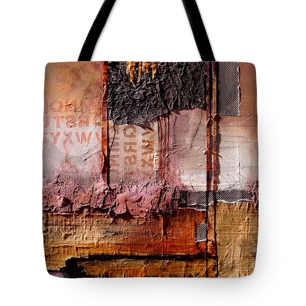 Collage Tote Bag featuring the painting Headlines by Carol Nelson