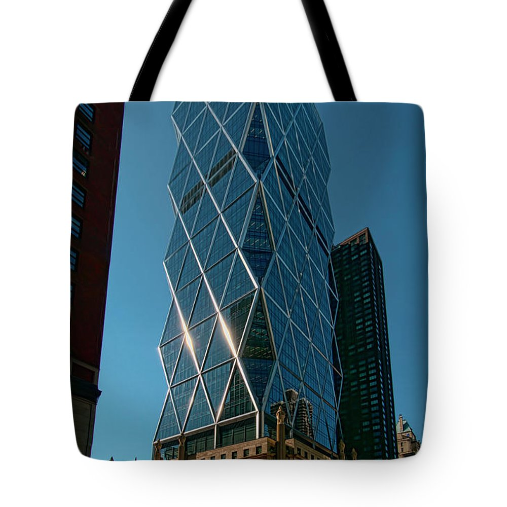 Iconic Tote Bag featuring the photograph Hearst Building by S Paul Sahm