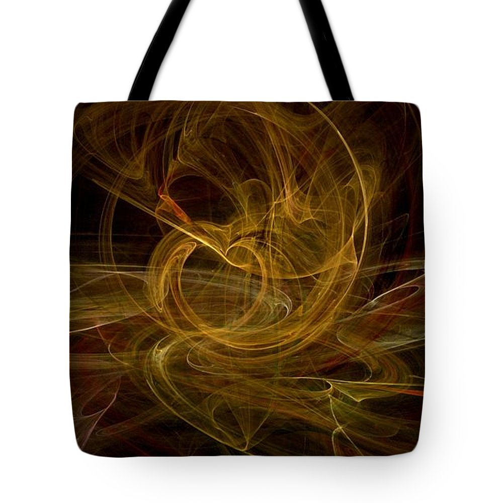 Stardust Tote Bag featuring the digital art Heart Of Gold by Kelly Turner