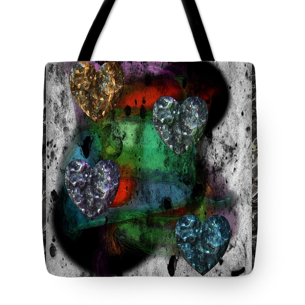 Heart Tote Bag featuring the digital art Heartistry Seven by Michael Hurwitz