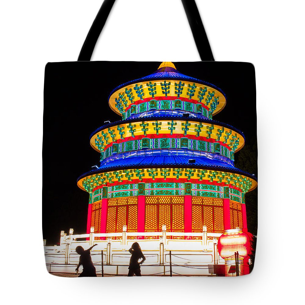 Art Tote Bag featuring the photograph Heavenly Temple by Semmick Photo