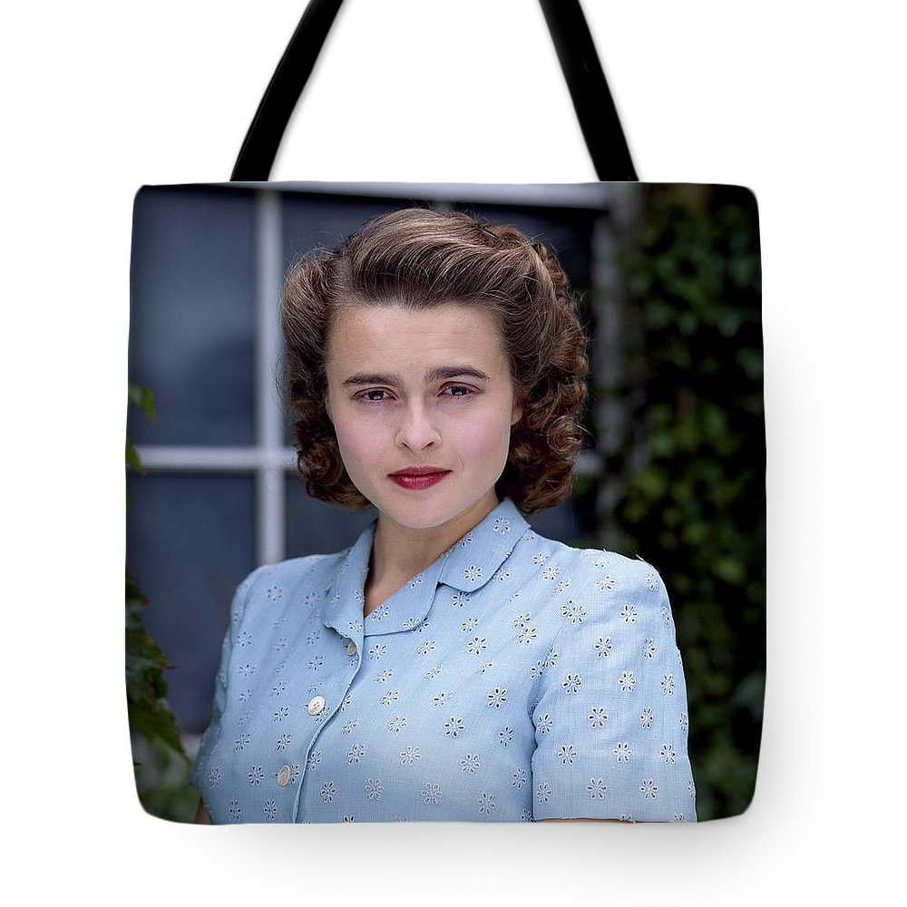 Helena Tote Bag featuring the photograph Helena Bonham Carter by Shaun Higson