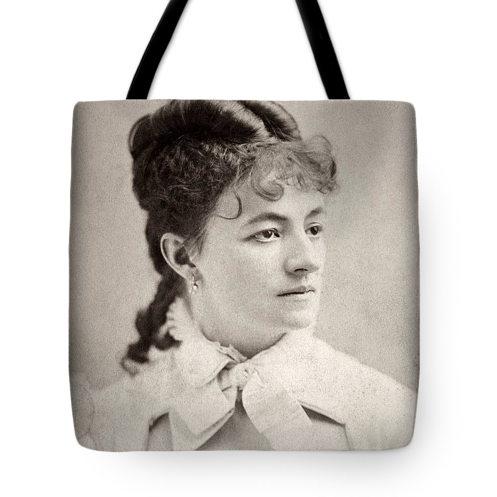 19th Century Tote Bag featuring the photograph Helena Modjeska (1840-1909) by Granger