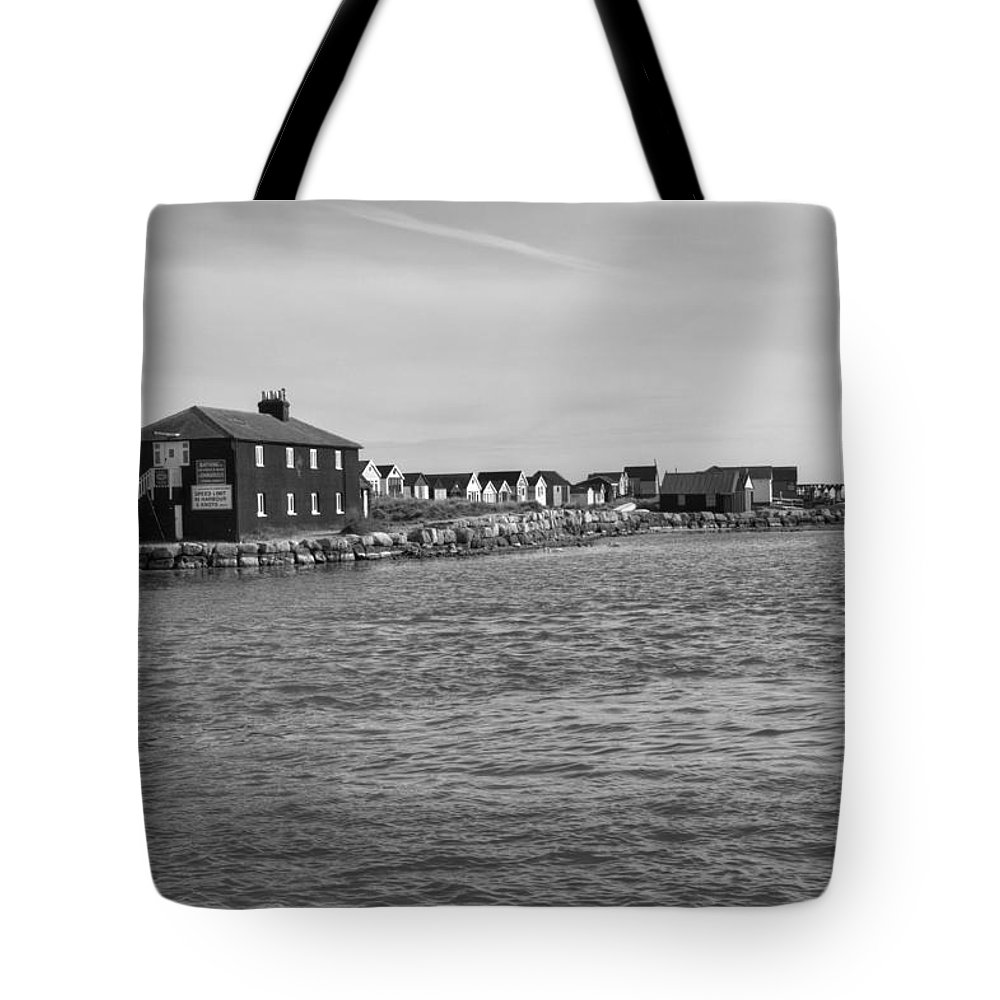 Hengistbury Head Tote Bag featuring the photograph Hengistbury Head Viewed From Mudeford by Chris Day