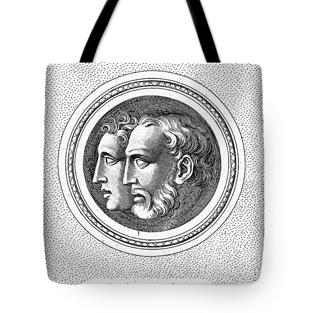 Ancient Tote Bag featuring the photograph Hercules And Hylas by Granger