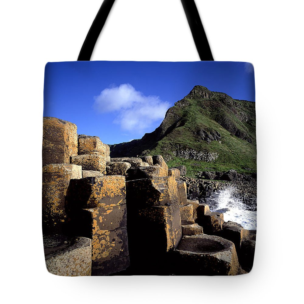 Photography Tote Bag featuring the photograph Hexagonal Columns At The Giants by Chris Hill
