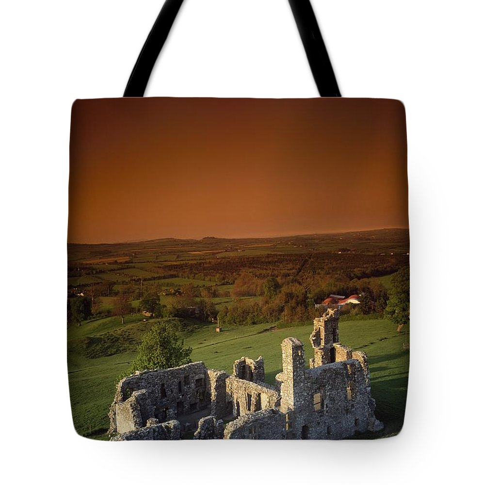 Ancient Tote Bag featuring the photograph High Angle View Of An Old Ruin,with by The Irish Image Collection