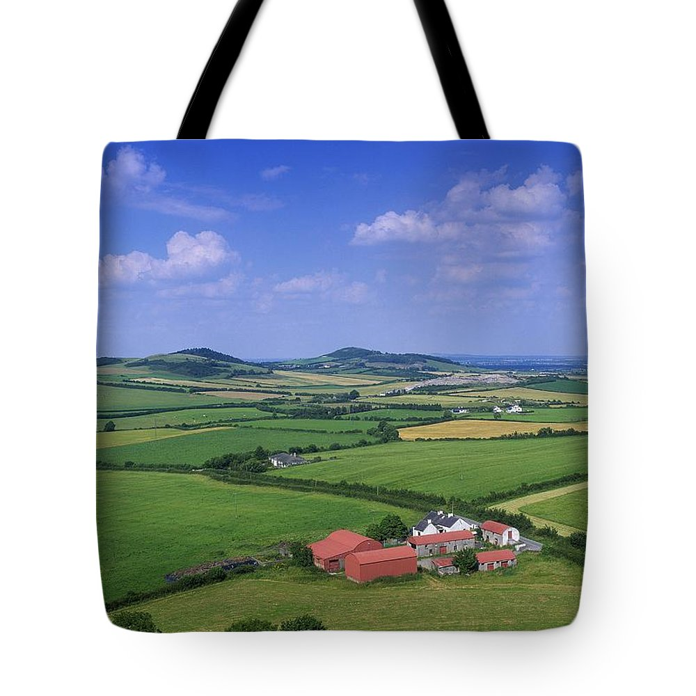 Architecture Tote Bag featuring the photograph High Angle View Of Fields, Stradbally by The Irish Image Collection